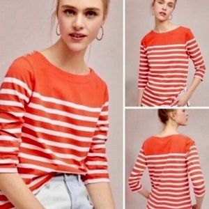 Anthropologie Maeve Bonnie Boat Neck Top XS
